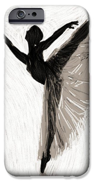 Ballerina Drawings iPhone Cases - Erotic Ballet iPhone Case by Stefan Kuhn