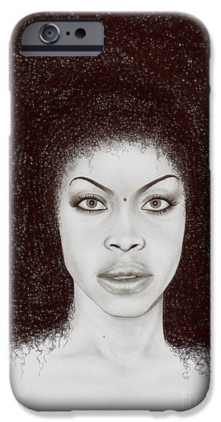 Wave Art iPhone Cases - Erykah iPhone Case by Wave