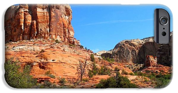 Red Rock iPhone Cases - Escalante iPhone Case by Emily  Froese