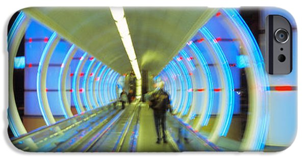 Eerie iPhone Cases - Escalator, Las Vegas Nevada, Usa iPhone Case by Panoramic Images