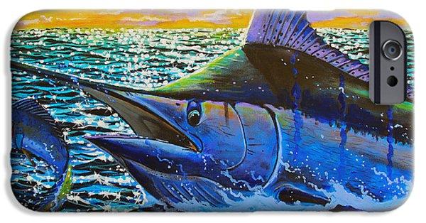Marlin Azul iPhone Cases - Escape iPhone Case by Carey Chen