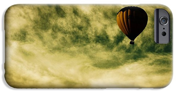 Hot Air Balloons iPhone Cases - Escapism iPhone Case by Andrew Paranavitana