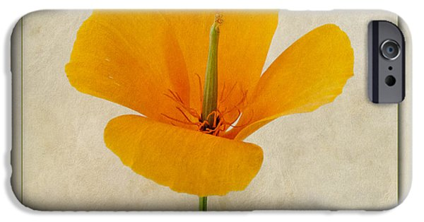 Small Digital Art iPhone Cases - Eschscholzia californica  Californian Poppy iPhone Case by John Edwards