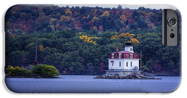 Hudson River iPhone Cases - Esopus Meadows Lighthouse iPhone Case by Joan Carroll