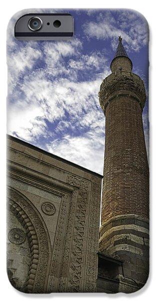 Building iPhone Cases - Esrefoglu Mosque Minaret iPhone Case by Phyllis Taylor