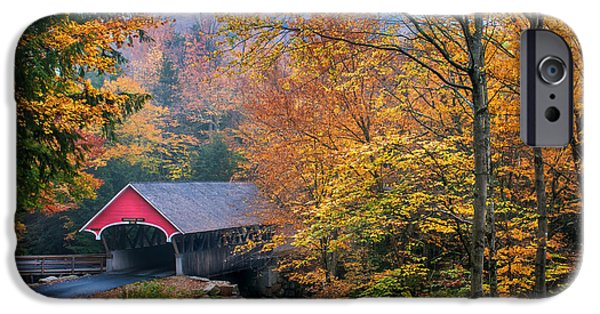 Fall Scenes iPhone Cases - Essence of New England - New Hampshire autumn classic iPhone Case by Thomas Schoeller