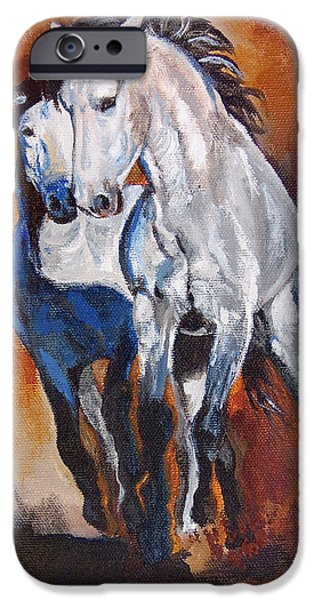Chatham Paintings iPhone Cases - Establishing Authority iPhone Case by Karen Kennedy Chatham