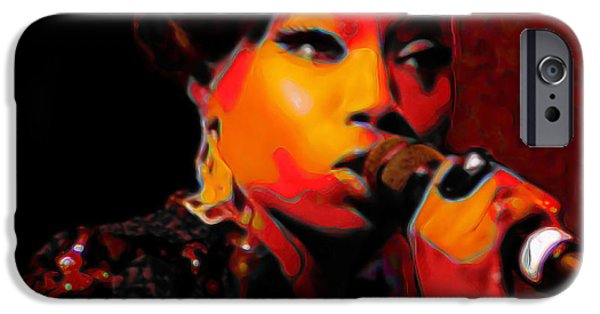 Celebrities Digital iPhone Cases - Estelle iPhone Case by  Fli Art