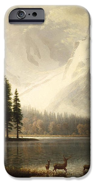 Estes Park Colorado Whytes Lake iPhone Case by Albert Bierstadt
