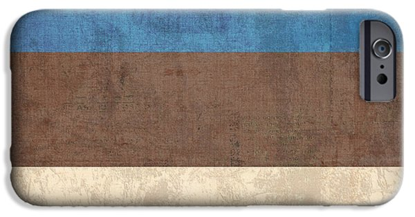 Nation iPhone Cases - Estonia Flag Vintage Distressed Finish iPhone Case by Design Turnpike