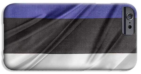 Estonia Photographs iPhone Cases - Estonian flag iPhone Case by Les Cunliffe