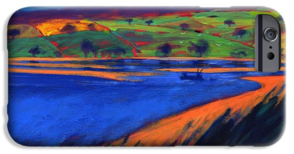 Fishing Boat iPhone Cases - Estuary, 2007 Acrylic On Board iPhone Case by Paul Powis
