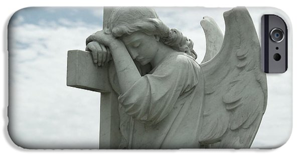 Recently Sold -  - Cemetary iPhone Cases - Eternal Angel iPhone Case by Cindy Hogan