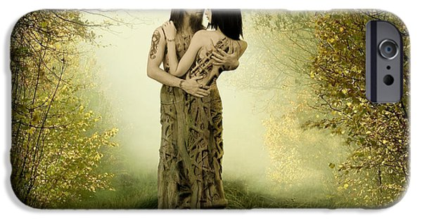 Narrative iPhone Cases - Eternal Embrace iPhone Case by Linda Lees