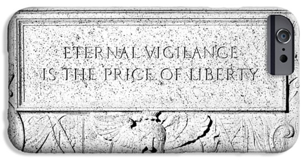 Constitution iPhone Cases - Eternal Liberty iPhone Case by Greg Fortier