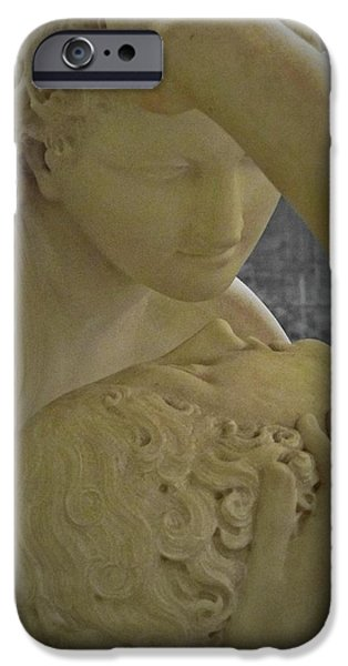 Human Spirit iPhone Cases - Eternal Love - Psyche Revived by Cupids Kiss - Louvre - Paris iPhone Case by Marianna Mills