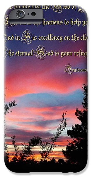 Eternal Inspirational iPhone Cases - Eternal Refuge iPhone Case by Glenn McCarthy Art and Photography