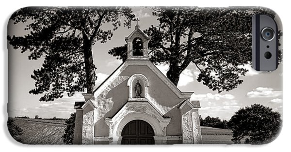 Chapels iPhone Cases - Eternal Rest iPhone Case by Olivier Le Queinec