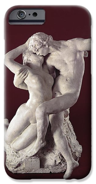Intimacy Photographs iPhone Cases - Eternal Springtime, 1884 Marble iPhone Case by Auguste Rodin
