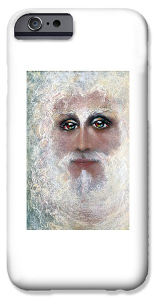 Son Of God Pastels iPhone Cases - ETERNAL Pastel Eikons of Christ iPhone Case by Vicki Thomas