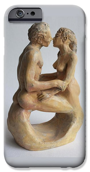Love Sculptures iPhone Cases - Eternity iPhone Case by Derrick Higgins