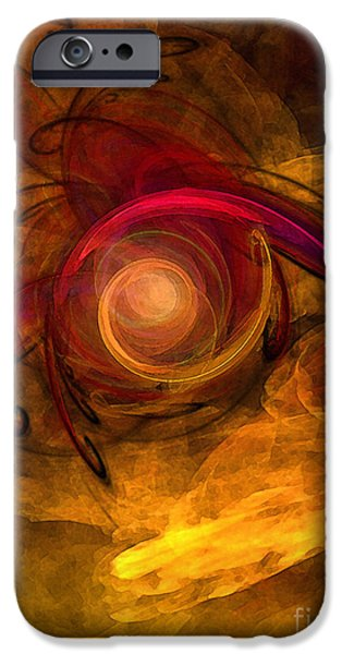 Abstract Expressionism Digital iPhone Cases - Eternity of Being-Abstract Expressionism iPhone Case by Karin Kuhlmann