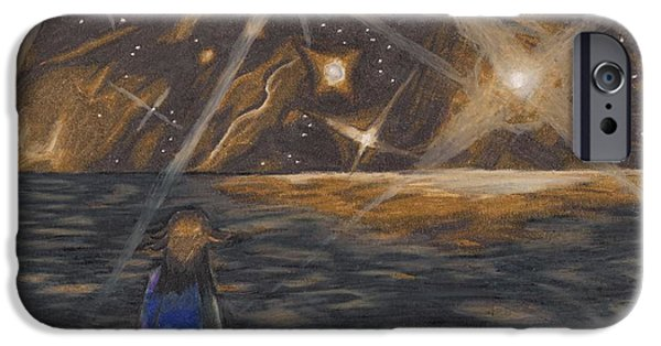 Van Dyke Brown iPhone Cases - Etestska Lying on Pluto iPhone Case by Keith Gruis