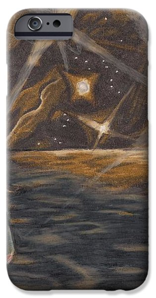 Etestska Lying on Pluto iPhone Case by Keith Gruis
