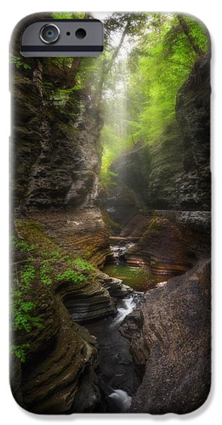 Watkins Glen iPhone Cases - Ethereal Gorge iPhone Case by Bill  Wakeley