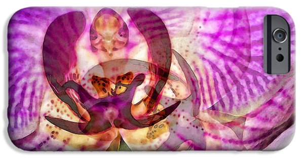 White Orchid iPhone Cases - Ethereal Orchid by Sharon Cummings iPhone Case by Sharon Cummings