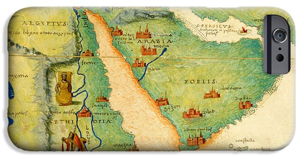 East Africa Photographs iPhone Cases - Ethiopia, The Red Sea And Saudi Arabia, From An Atlas Of The World In 33 Maps, Venice, 1st iPhone Case by Battista Agnese