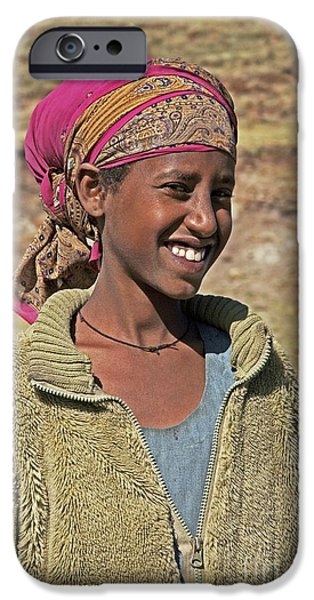 Ethiopian Woman iPhone Cases - Ethiopian Woman iPhone Case by Brian Gadsby