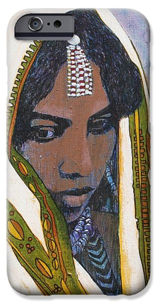 Ethiopian Woman iPhone Cases - Ethiopian Woman iPhone Case by J W Kelly