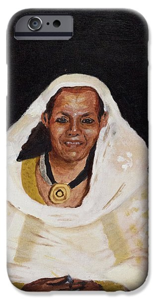 Ethiopian Woman iPhone Cases - Ethiopian Woman iPhone Case by Jeremy Phelps
