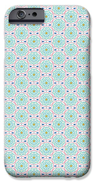 Graphic Design iPhone Cases - Ethnic Floral Print iPhone Case by Susan Claire