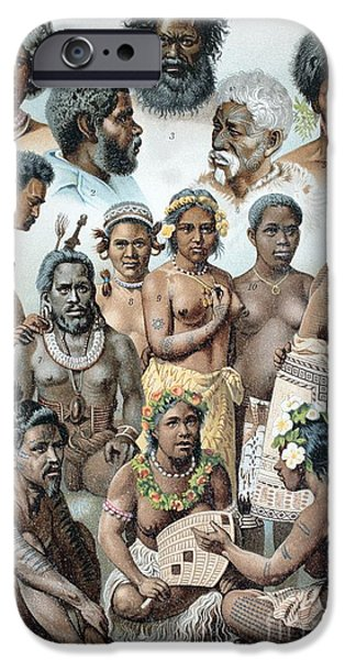 Briton iPhone Cases - Ethnic Groups Of Australasia, 1880s iPhone Case by Bildagentur-online