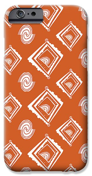 Floral Digital Art Digital Art Photographs iPhone Cases - Ethnic Window iPhone Case by Susan Claire