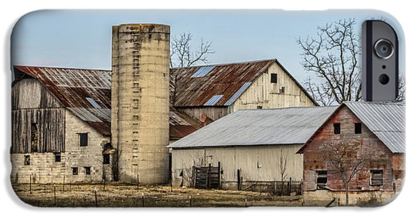 Amish Community Photographs iPhone Cases - Ethridge Tennessee Amish Barn iPhone Case by Kathy Clark