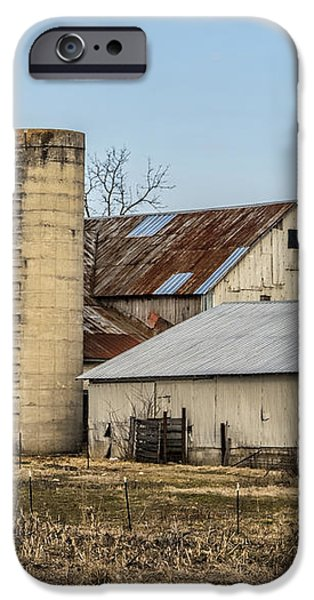 Ethridge Tennessee Amish Barn iPhone Case by Kathy Clark