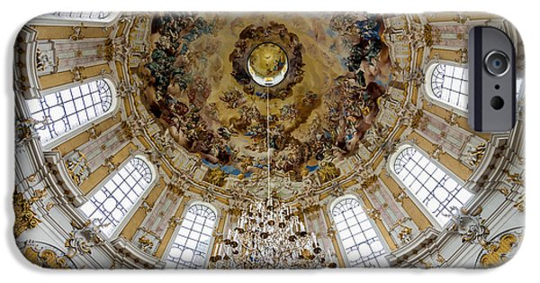 Religious Icon iPhone Cases - Ettal Abbey Dome - Benedictine Monastery - Germany iPhone Case by Gary Whitton
