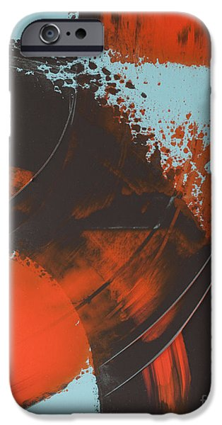Slash Paintings iPhone Cases - Etude 1 iPhone Case by Patrice Cantin