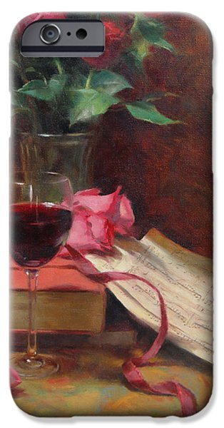 Wine Glasses Paintings iPhone Cases - Etude iPhone Case by Anna Bain