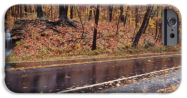 Raining iPhone Cases - Euclid Creek, Parkway, Ohio, Usa iPhone Case by Panoramic Images