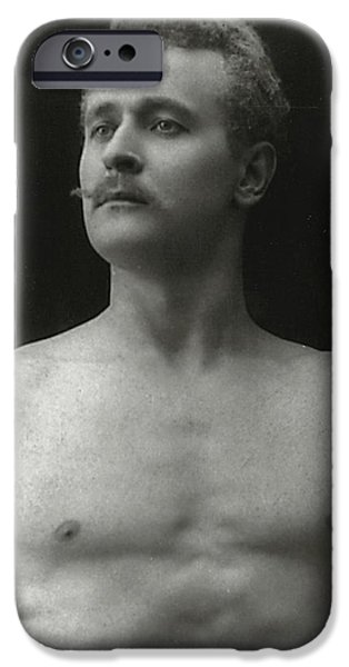 Nudes Photographs iPhone Cases - Eugen Sandow iPhone Case by American Photographer
