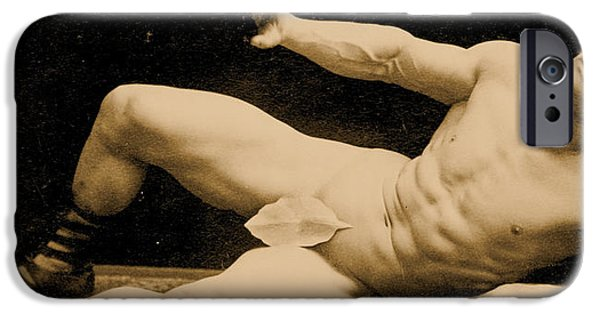 Homo iPhone Cases - Eugen Sandow iPhone Case by Benjamin J Falk