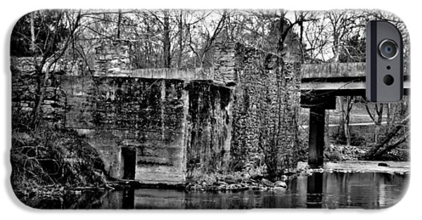 Grist Mill iPhone Cases - Euharlee Grist Mill Ruins iPhone Case by Tara Potts