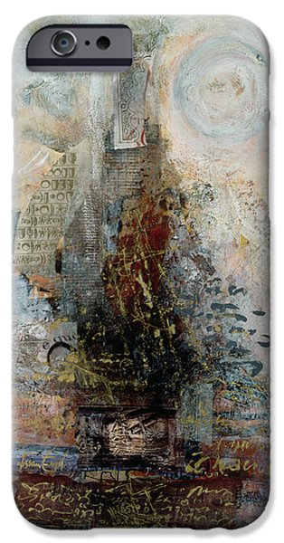 Sheets iPhone Cases - Eulogy, 1996 Mixed Media iPhone Case by Nissan Engel