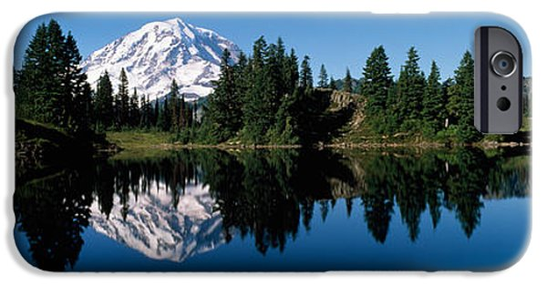 Rainy Day iPhone Cases - Eunice Lake Mt Rainier National Park Wa iPhone Case by Panoramic Images