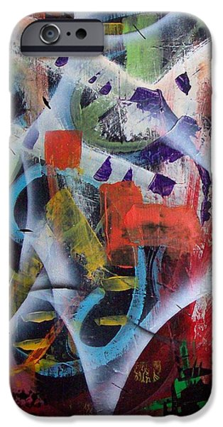 Swiss Mixed Media iPhone Cases - Euphoria iPhone Case by Yul Olaivar