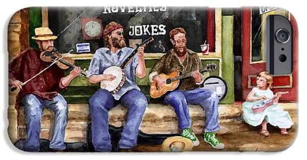 Arkansas iPhone Cases - Eureka Springs Novelty Shop String Quartet iPhone Case by Sam Sidders